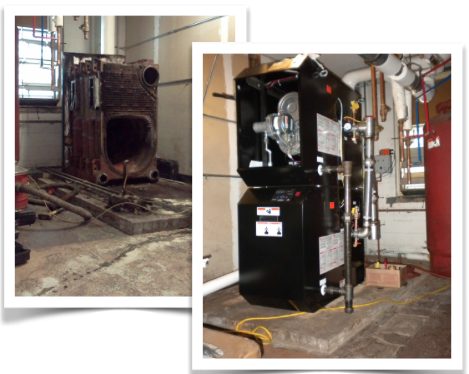 Out with the old, in with the new gas-fired efficient boilers