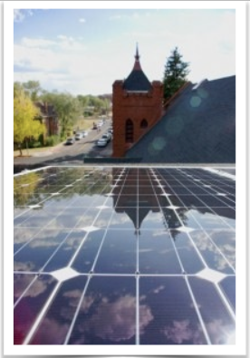 Federated's beautiful solar panels reflecting the sky