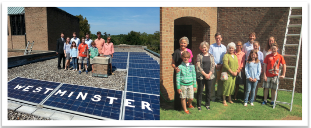 """Westminster Presbyterian Church's Environmental Concerns Team worked with the membership to acquire solar panels. They are """"Drawing the line against fossil fuels"""" in the heart of coal country"""